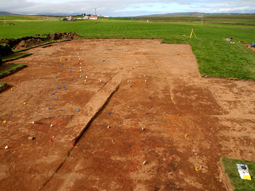 Excavated Viking-age longhouse at Glaumbaer