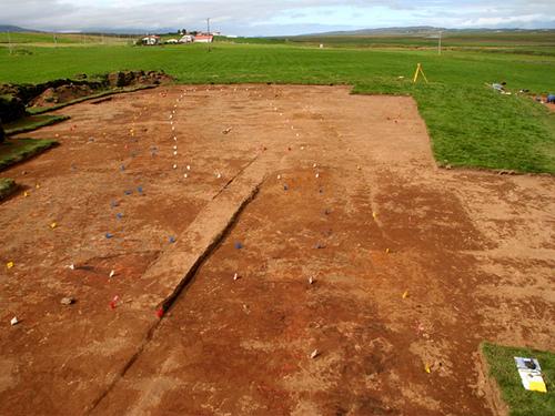 Excavated Viking-age longhouse at Glaumbaer