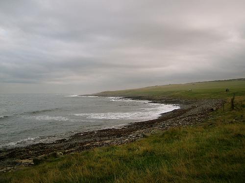 North Sea shoreline, Northumberland UK. Photo credit: Glen Bowman