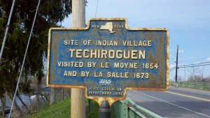 """Site of Indian Village Techiroguen, Visited By LeMoyne 1654 and by LaSalle 1673"""
