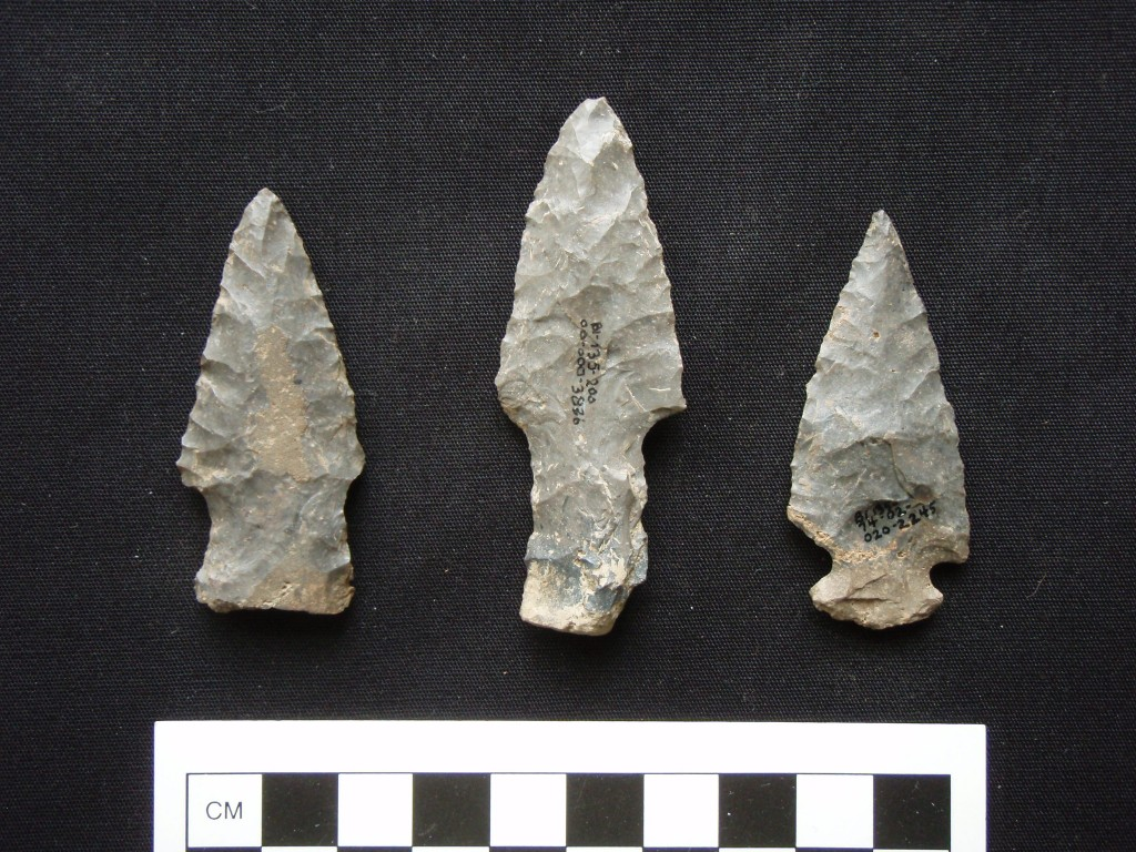 Three projectile points