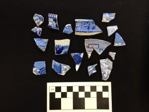 Blue transfer-printed ceramics